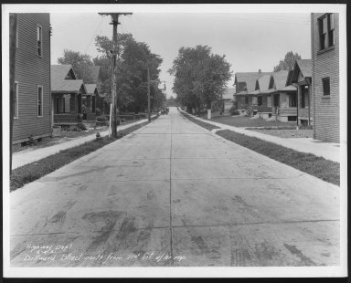 Street Improvement Photographs -- Box 22, Folder 35 (Dillwand Street) -- print, 1931-06-04