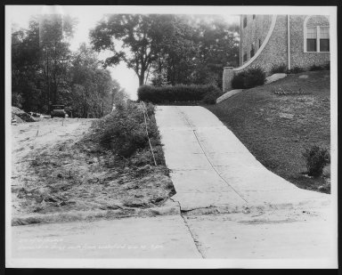 Street Improvement Photographs -- Box 22, Folder 38 (Dovenshire Drive) -- print, 1934-06-16, 9:00 A.M.
