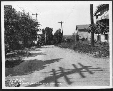 Street Improvement Photographs -- Box 22, Folder 39 (Drott Avenue) -- print, 1930-08-16