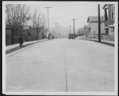 Street Improvement Photographs -- Box 22, Folder 39 (Drott Avenue) -- print, 1931-01-29