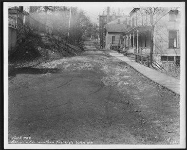 Street Improvement Photographs -- Box 22, Folder 42 (Earnshaw Avenue) -- print, 1929-03-08