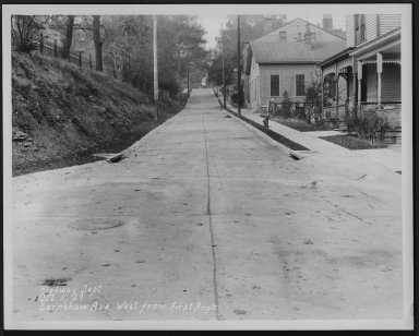 Street Improvement Photographs -- Box 22, Folder 42 (Earnshaw Avenue) -- print, 1929-10-11