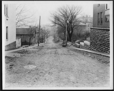 Street Improvement Photographs -- Box 22, Folder 42 (Earnshaw Avenue) -- print, 1929-02-26