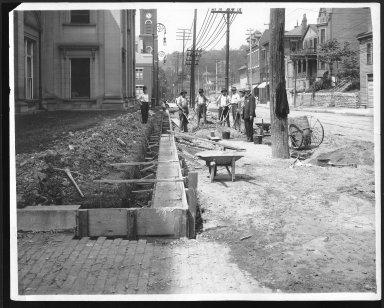 Street Improvement Photographs -- Box 22, Folder 46 (Eastern Avenue) -- print, 1923