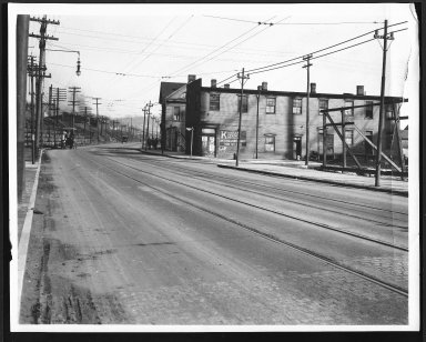Street Improvement Photographs -- Box 22, Folder 47 (Eastern Avenue) -- print, 1923-04-06