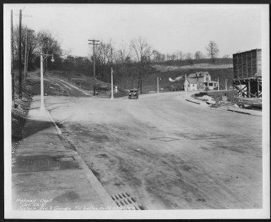Street Improvement Photographs -- Box 22, Folder 54 (Eastern Avenue) -- print, 1931-01-26