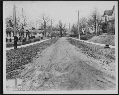 Street Improvement Photographs -- Box 22, Folder 55 (Ebersole Avenue) -- print, 1929-03-17
