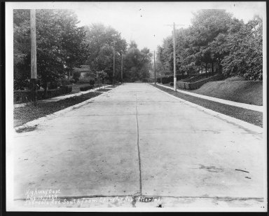 Street Improvement Photographs -- Box 22, Folder 55 (Ebersole Avenue) -- print, 1929-10-10