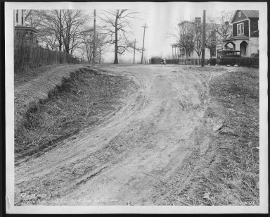 Street Improvement Photographs -- Box 22, Folder 56 (Edna Avenue) -- print, 1929-02-18