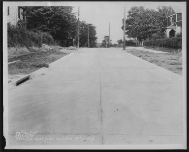 Street Improvement Photographs -- Box 22, Folder 56 (Edna Avenue) -- print, 1929-09-16