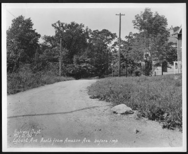 Street Improvement Photographs -- Box 22, Folder 57 (Egbert Avenue) -- print, 1930-05-21