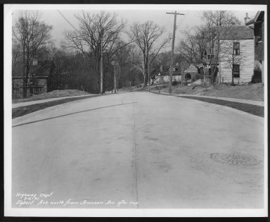 Street Improvement Photographs -- Box 22, Folder 57 (Egbert Avenue) -- print, 1931-03-06