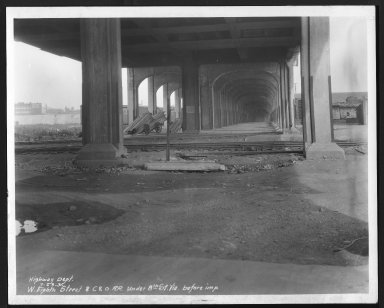 Street Improvement Photographs -- Box 22, Folder 64 (Eighth Street) -- print, 1931-07-23