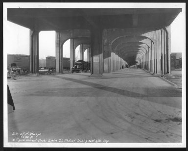 Street Improvement Photographs -- Box 22, Folder 64 (Eighth Street) -- print, 1931-10-23