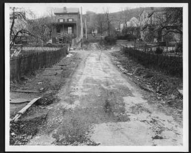 Street Improvement Photographs -- Box 22, Folder 69 (Elmore Street) -- print, 1931-01-20