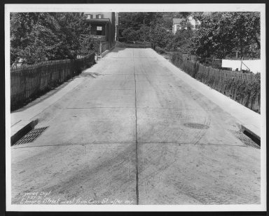 Street Improvement Photographs -- Box 22, Folder 69 (Elmore Street) -- print, 1931-07-27