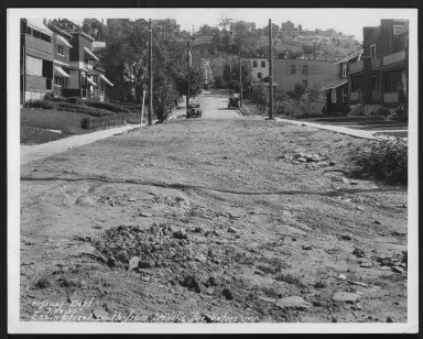 Street Improvement Photographs -- Box 22, Folder 71 (Enslin Street) -- print, 1930-07-29