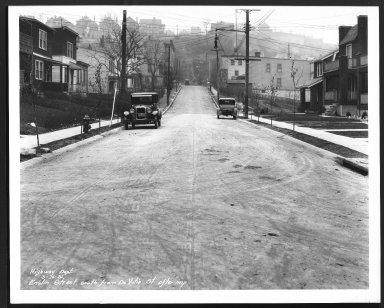 Street Improvement Photographs -- Box 22, Folder 71 (Enslin Street) -- print, 1931-03-16
