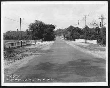 Street Improvement Photographs -- Box 23, Folder 06 (Erie Avenue) -- print, 1932-08-12