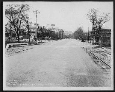 Street Improvement Photographs -- Box 23, Folder 06 (Erie Avenue) -- print, 1934-04-19
