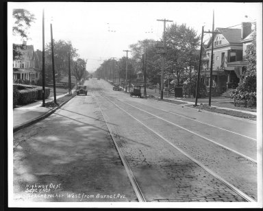 Street Improvement Photographs -- Box 23, Folder 09 (Erkenbrecher Avenue) -- print, 1929-09-11