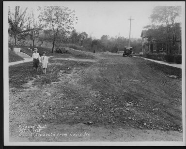 Street Improvement Photographs -- Box 23, Folder 11 (Euclid Avenue) -- print, 1929-10-11