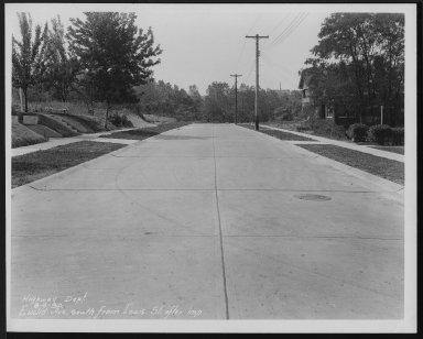 Street Improvement Photographs -- Box 23, Folder 11 (Euclid Avenue) -- print, 1930-08-04