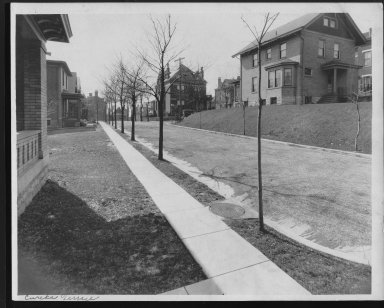 Street Improvement Photographs -- Box 23, Folder 12 (Eureka Terrace) -- print, 1918-02-26