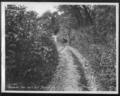 Street Improvement Photographs -- Box 23, Folder 14 (Fairbanks Avenue) -- print, 1926-10-04