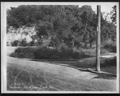 Street Improvement Photographs -- Box 23, Folder 14 (Fairbanks Avenue) -- print, 1926-10-04