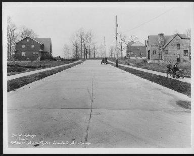 Street Improvement Photographs -- Box 23, Folder 15 (Fairhurst Avenue) -- print, 1932-02-04