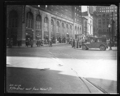 Street Improvement Photographs -- Box 23, Folder 22 (Fifth Street) -- print, 1928-01-22