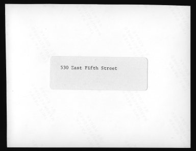 Street Improvement Photographs -- Box 23, Folder 22 (Fifth Street) -- print, 1928 (back of photograph)