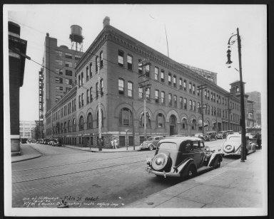 Street Improvement Photographs -- Box 23, Folder 24 (Fifth Street Viaduct) -- print, 1936-08-10