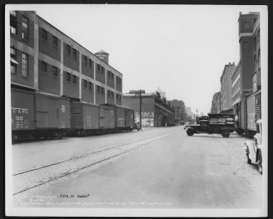 Street Improvement Photographs -- Box 23, Folder 24 (Fifth Street Viaduct) -- print, 1936-08-10