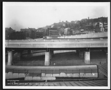 Street Improvement Photographs -- Box 23, Folder 25 (Fifth Street Viaduct) -- print, 1938-11-06