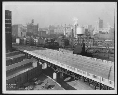 Street Improvement Photographs -- Box 23, Folder 25 (Fifth Street Viaduct) -- print, 1938-11-15