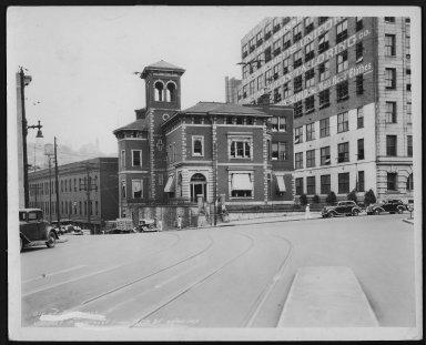 Street Improvement Photographs -- Box 23, Folder 25 (Fifth Street Viaduct) -- print, 1938