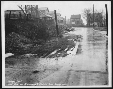 Street Improvement Photographs -- Box 23, Folder 27 (Fisk Avenue) -- print, 1930-12-05