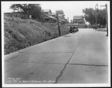 Street Improvement Photographs -- Box 23, Folder 27 (Fisk Avenue) -- print, 1931-06-29