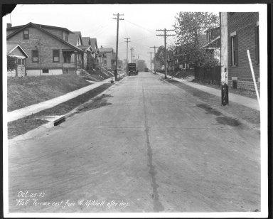 Street Improvement Photographs -- Box 23, Folder 28 (Flatt Terrace) -- print, 1927-10-25