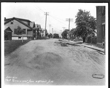 Street Improvement Photographs -- Box 23, Folder 28 (Flatt Terrace) -- print, 1927-06-09