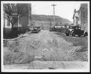 Street Improvement Photographs -- Box 23, Folder 29 (Fowler Street) -- print, 1932-02-14