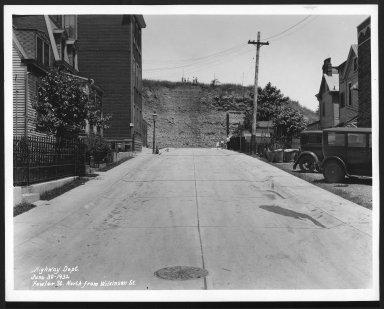 Street Improvement Photographs -- Box 23, Folder 29 (Fowler Street) -- print, 1932-06-30