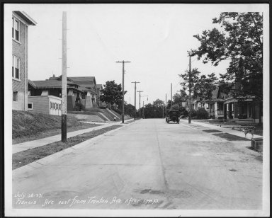 Street Improvement Photographs -- Box 23, Folder 30 (Francis Avenue) -- print, 1927-07-26