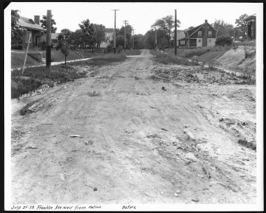 Street Improvement Photographs -- Box 23, Folder 31 (Franklin Avenue) -- print, 1928-07-25