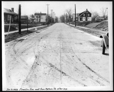 Street Improvement Photographs -- Box 23, Folder 31 (Franklin Avenue) -- print, 1929-01-21
