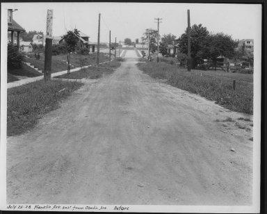 Street Improvement Photographs -- Box 23, Folder 31 (Franklin Avenue) -- print, 1928-07-25