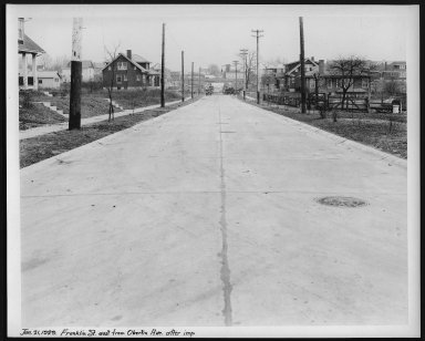 Street Improvement Photographs -- Box 23, Folder 31 (Franklin Avenue) -- print, 1929-01-21