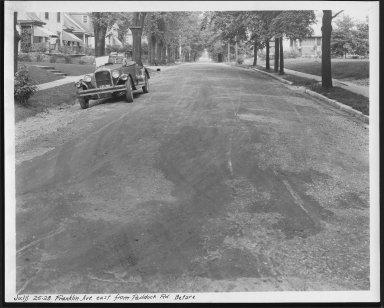 Street Improvement Photographs -- Box 23, Folder 32 (Franklin Avenue) -- print, 1928-07-25